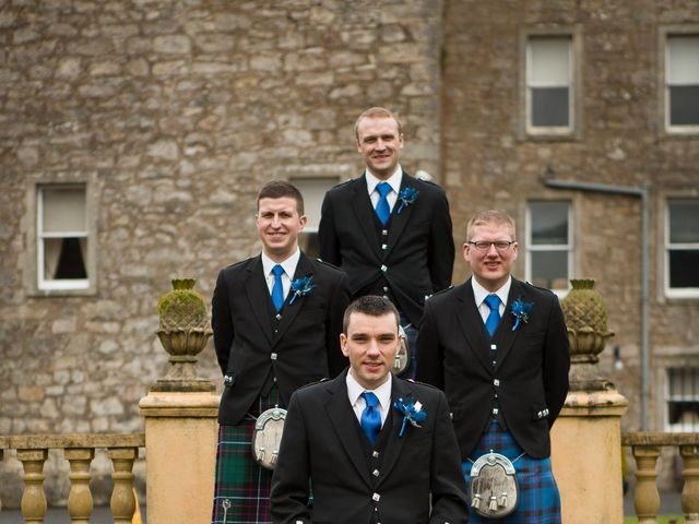 Gary and Angela's wedding in Fintry, Stirling 9