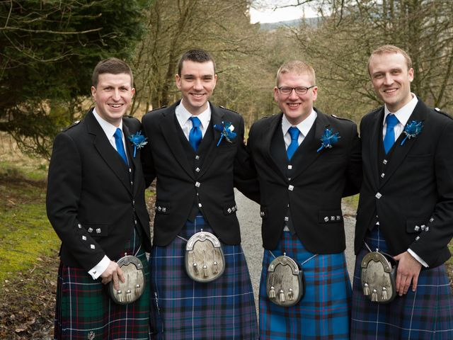 Gary and Angela's wedding in Fintry, Stirling 10