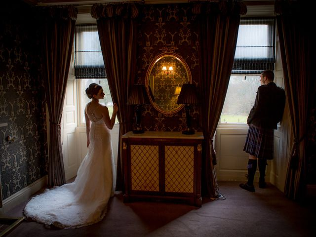 Gary and Angela's wedding in Fintry, Stirling 1
