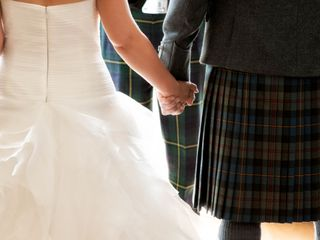 James and Jenni's wedding in Pitcaple, Aberdeenshire 3