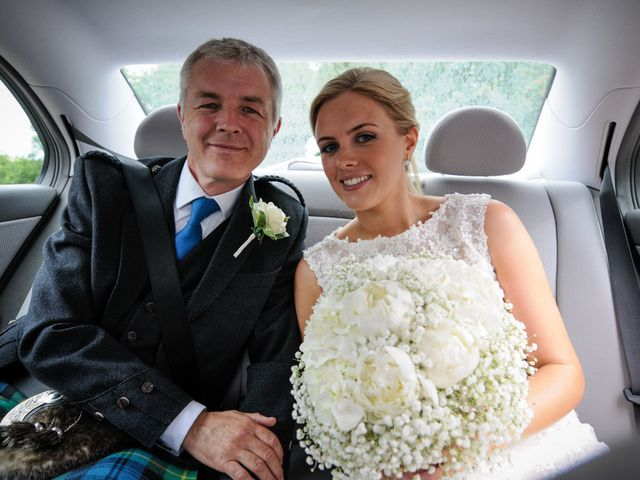 Lee and Sarah's wedding in Banchory, Aberdeenshire 1