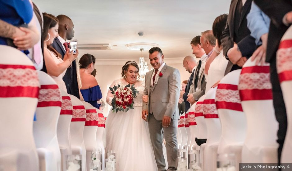 Jack and Shadlea's wedding in Manchester Airport, Greater Manchester