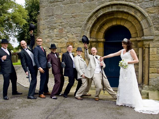 Nathan and Fran's wedding in Masham, North Yorkshire 1