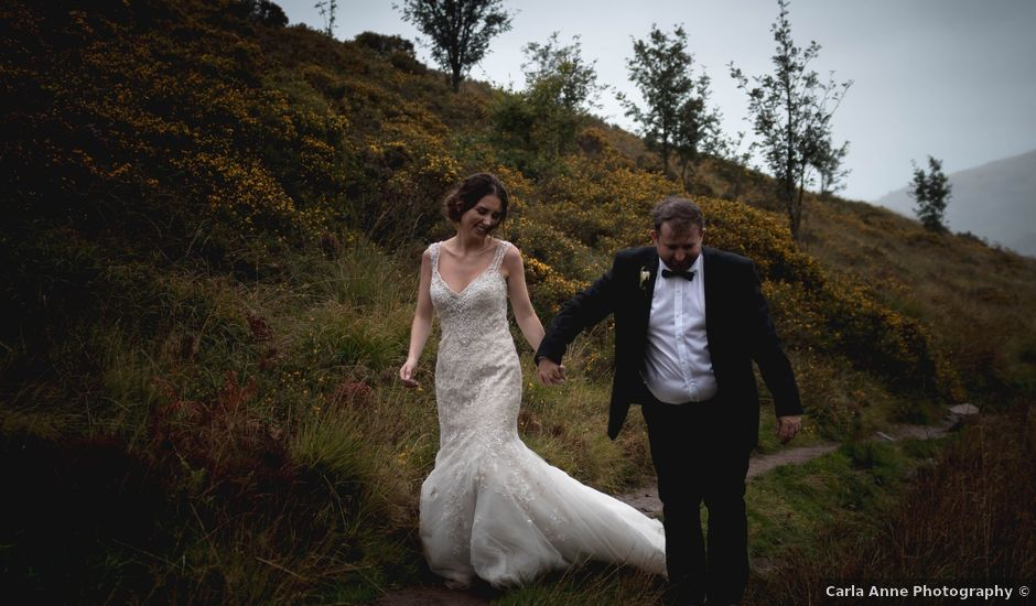 Luc and Charlotte's wedding in Aberdulais, Neath Port Talbot