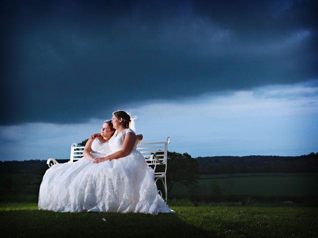 Laura and Amy's wedding in Redditch, Worcestershire 3