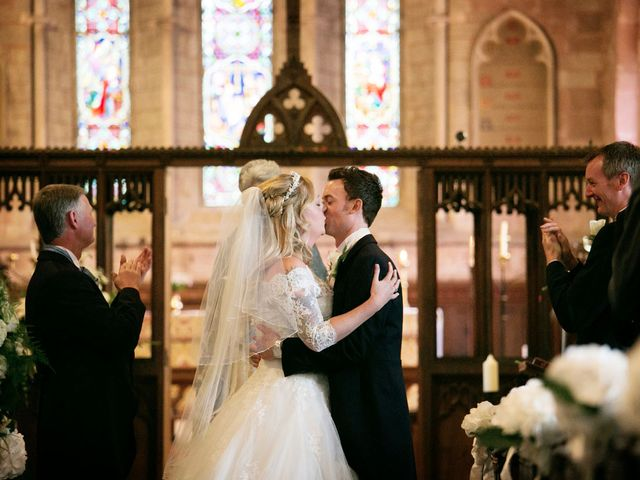 Mark and Natalie's wedding in Callow End, Worcestershire 7