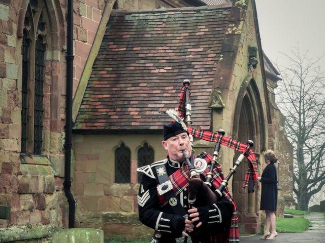 Andrew and Rebecca's wedding in Shustoke, Warwickshire 3