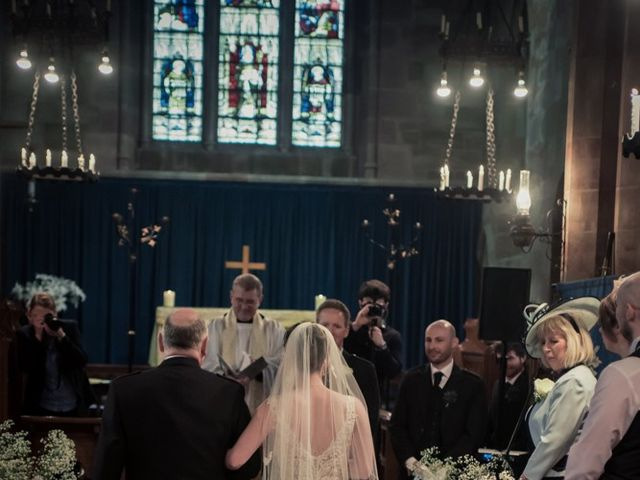 Andrew and Rebecca's wedding in Shustoke, Warwickshire 9