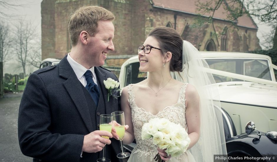 Andrew and Rebecca's wedding in Shustoke, Warwickshire