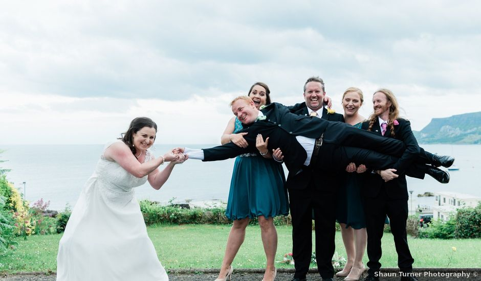 Dave and Cathy's wedding in Cushendall, Ballymena