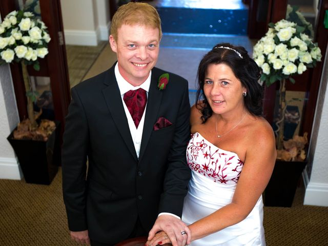Carl and Sarah's wedding in Mansfield, Nottinghamshire 7