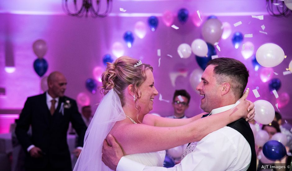 David and Ashleigh's wedding in Newport Pagnell, Buckinghamshire