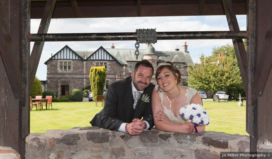 Kendal and Andrew's wedding in Forres, Moray