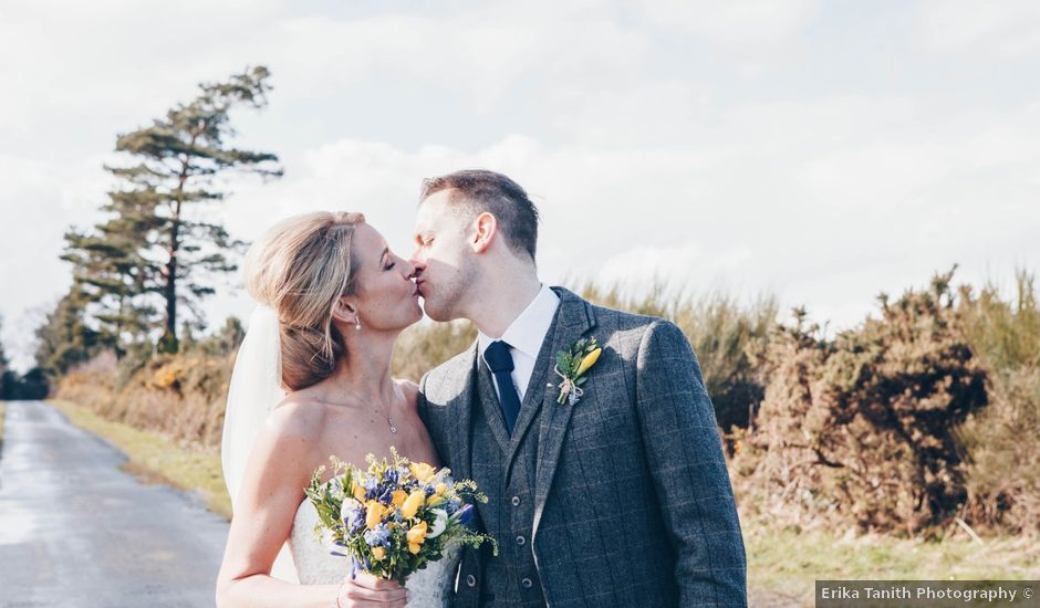 Chris and Natalie's wedding in Healey, Northumberland