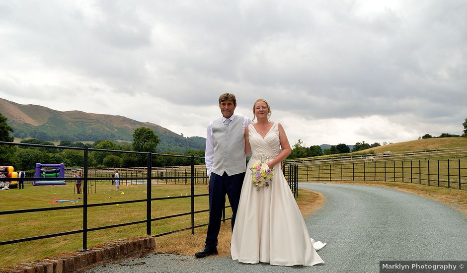 Helen and Caspar's wedding in Church Stretton, Shropshire