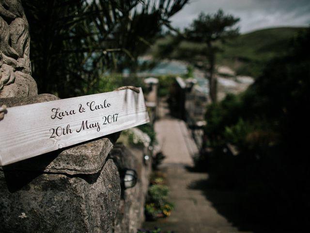 Carlo and Zara's wedding in Polhawn, Cornwall 2