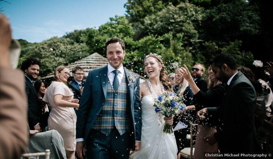 Carlo and Zara's wedding in Polhawn, Cornwall