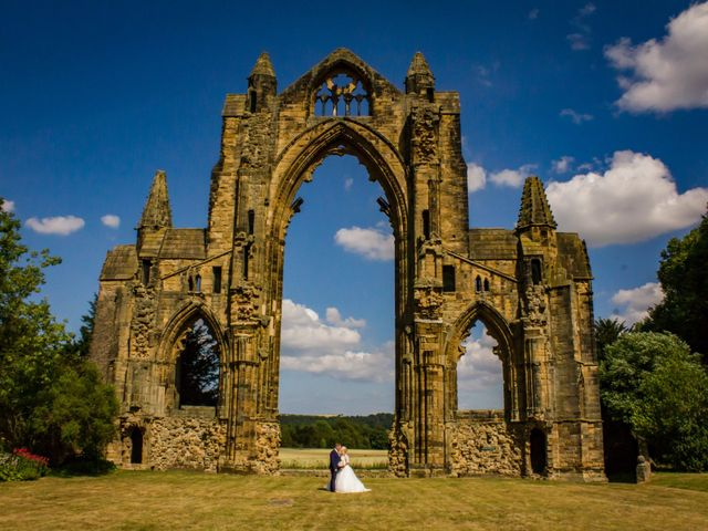 Graham and Helen's wedding in Guisborough, North Yorkshire 1