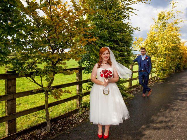 David and Leanne's wedding in Wrightington, Lancashire 1