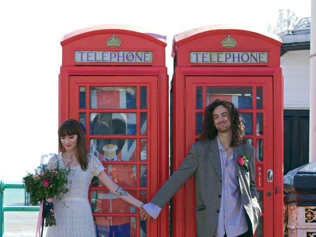 Tom and Jadene's wedding in Brighton, East Sussex 1