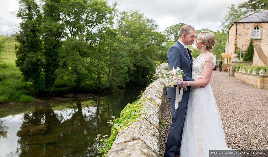 Chris and Joanna's wedding in Morpeth, Northumberland