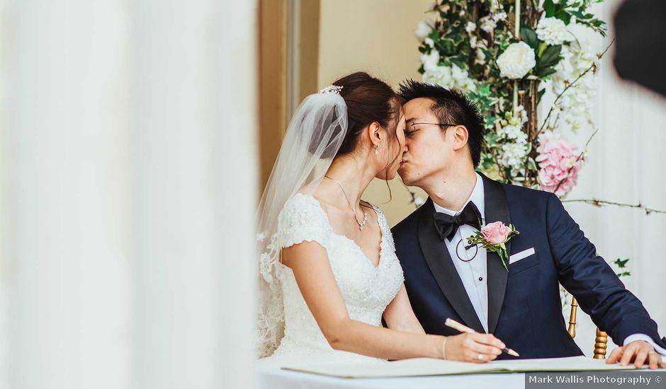 Ben and Jessie's wedding in Stoke Poges, Buckinghamshire